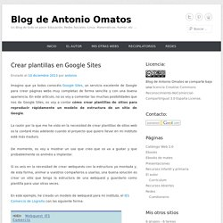 Crear plantillas en Google Sites