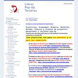 33. Plantillas - Libros Pop-Up Tarjetas