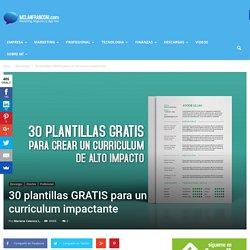 30 plantillas GRATIS para un curriculum impactante - Mclanfranconi.com