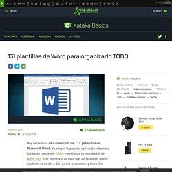 131 plantillas de Word para organizarlo TODO