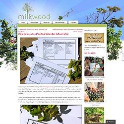 How to: create a Planting Calendar, Allsun style