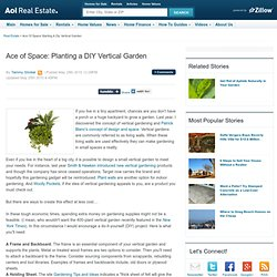 Ace of Space: Planting a DIY Vertical Garden