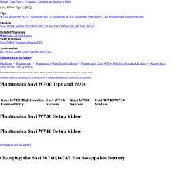 Plantronics Savi W700 Tips & FAQs - Comfort Canada
