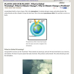 PLANTS AND OUR PLANET - What is Global Warming?, What is Climate Change?, Why is Climate Change a Problem?