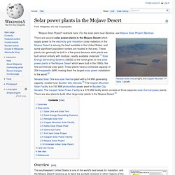Solar power plants in the Mojave Desert