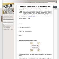 PlantUML, un nouvel outil de génération UML
