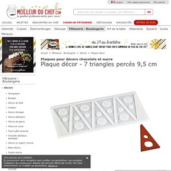 Plaque décor - 7 triangles percés 9,5 cm