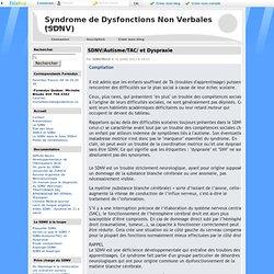 Plaquette SDNV - Syndrome de Dysfonctions Non Verbales (SDNV)