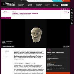 Plaquette : masque du démon Humbaba