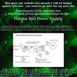 plasma ball power supply