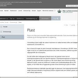 Plast - Fødevarestyrelsen (FST)