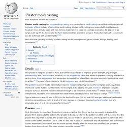 Plaster mold casting - Wikipedia