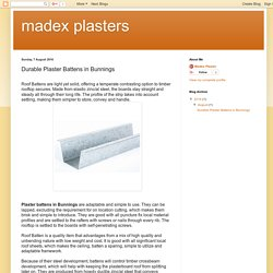 madex plasters: Durable Plaster Battens in Bunnings