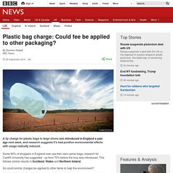 Plastic bag charge: Could fee be applied to other packaging?