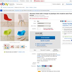 NEW Retro Plastic Dining Chair Modern Lounge Armchair Office Furniture