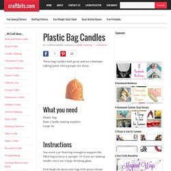 Plastic Bag Candles