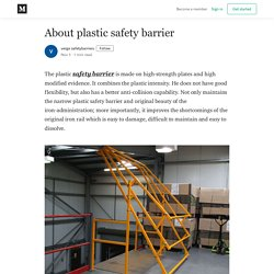 About plastic safety barrier - verge safetybarriers - Medium