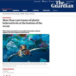 More than 14m tonnes of plastic believed to be at the bottom of the ocean