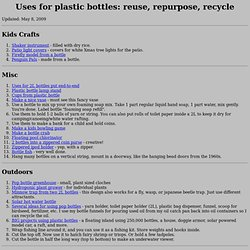 Plastic bottle projects