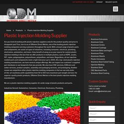 Plastic Injection Molding and Extrusion Molding Company - OD Metals