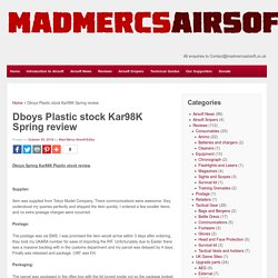 Dboys Plastic stock Kar98K Spring review - Mad Mercs Airsoft reviews