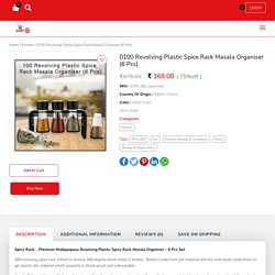 Plastic Spice Rack Masala Organiser 6 Bottles with Stand