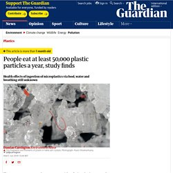 People eat at least 50,000 plastic particles a year, study finds