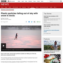 Plastic particles falling out of sky with snow in Arctic