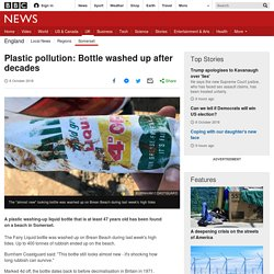 Plastic pollution: Bottle washed up after decades