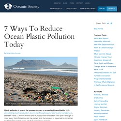 7 Ways To Reduce Ocean Plastic Pollution Today - Oceanic Society