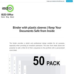 Keep Your Documents Safe from Inside – IBZO Office