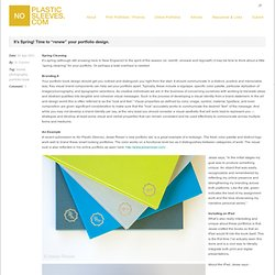"No Plastic Sleeves » It's Spring! Time to ""renew"" your portfolio design."