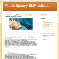 Plastic Surgery EMR software: How Plastic Surgery EMR software realize all the challenges of Plastic Surgery?