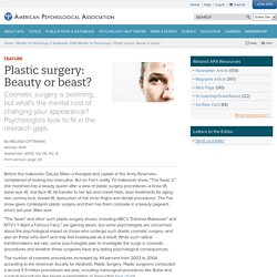 Plastic surgery: Beauty or beast?