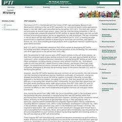 Plastic Technologies, Inc. - History: PET Industry