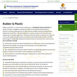 Rubber and Plastic Testing Labs