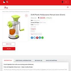 Buy Plastic Manual Fruit & Vegetable Juicer