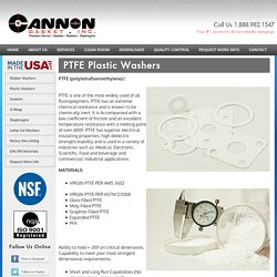 PTFE Washer Manufacturer