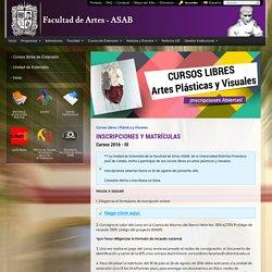 Cursos Libres Artes Plásticas y Visuales - Universidad Distrital Francisco José de Caldas