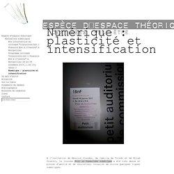 Numérique : plasticité et intensification - Fragments (Sébastien Rongier)