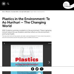 Plastics in the Environment: Te Ao Hurihuri – The Changing World
