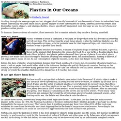 Plastics in Our Oceans