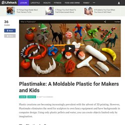 Plastimake: A Moldable Plastic for Makers and Kids