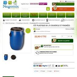 Fût de 60 L en plastique pour stocker des liquides et produits