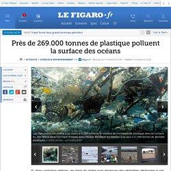 Près de 269.000 tonnes de plastique polluent la surface des océans
