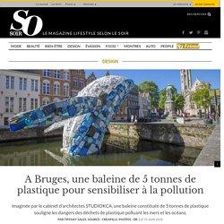 A Bruges, une baleine de 5 tonnes de plastique pour sensibiliser à la pollution