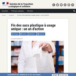 Fin des sacs plastique à usage unique : un an d'action