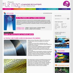 Plastic le mag, le magazine des plastiques et de l'innovation