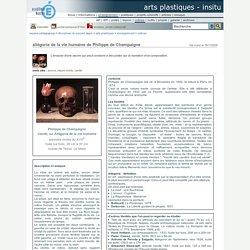 arts plastiques - InSitu - allégorie de la vie humaine de Philippe de Champaigne