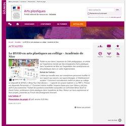 Le BYOD en arts plastiques au collège - Académie de Nice-Arts plastiques-Éduscol